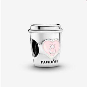 Pandora original  Take a Break Coffee Cup Charm